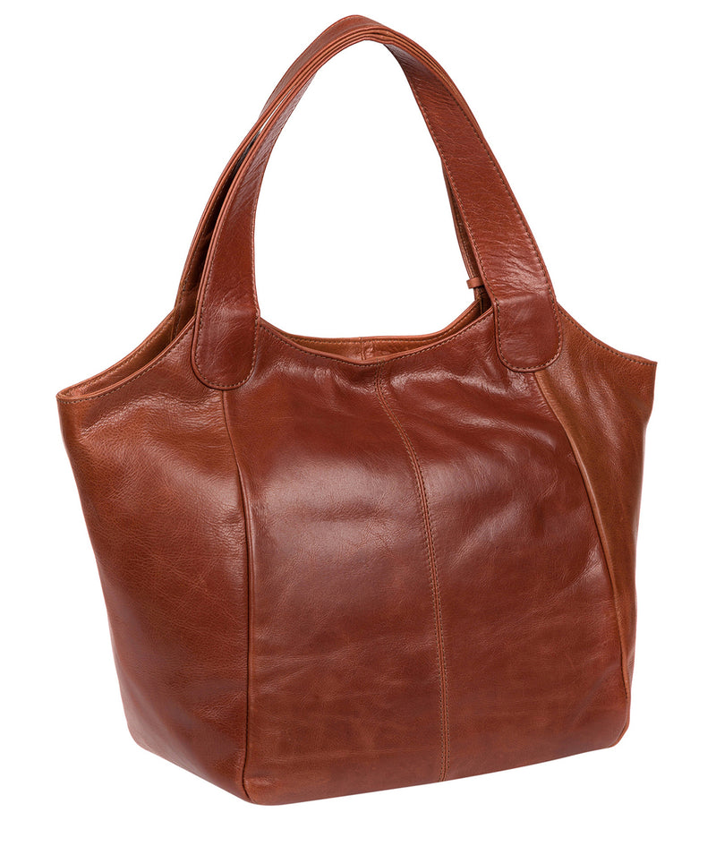 'Imani' Whiskey Leather Tote Bag image 3