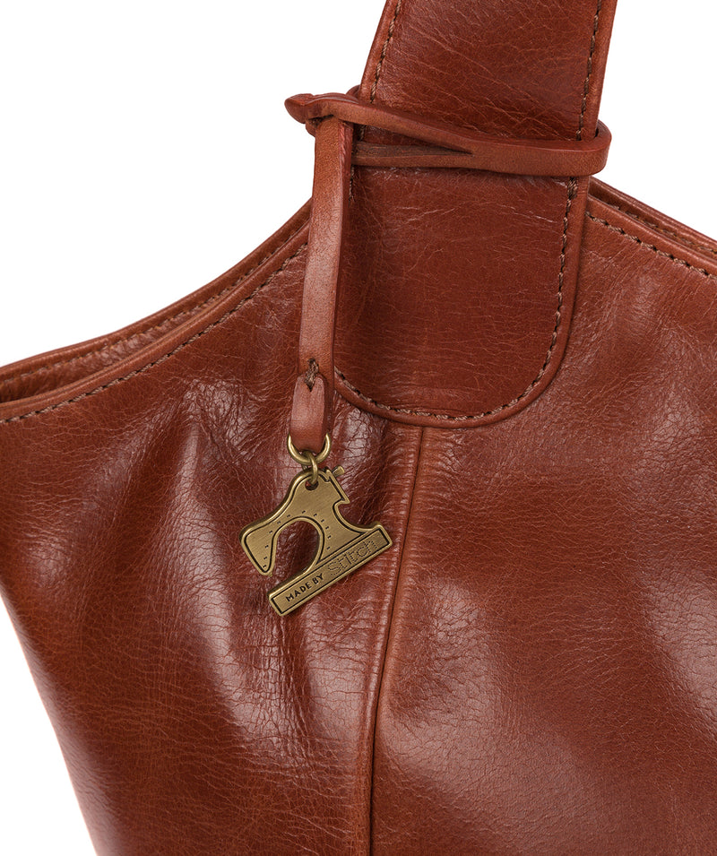 'Imani' Whiskey Leather Tote Bag image 5