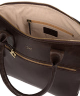 'Quinn' Dark Chocolate Leather Tote Bag image 5