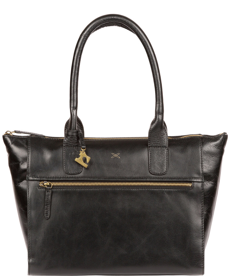 'Quinn' Ebony Leather Tote Bag image 1