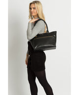 'Quinn' Ebony Leather Tote Bag image 2