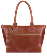 'Quinn' Whiskey Leather Tote Bag image 1