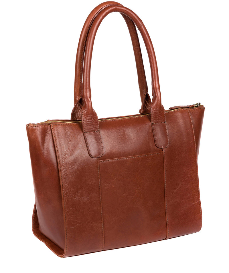 'Quinn' Whiskey Leather Tote Bag image 3