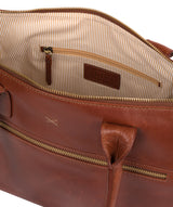 'Quinn' Whiskey Leather Tote Bag image 4