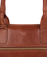 'Quinn' Whiskey Leather Tote Bag image 5