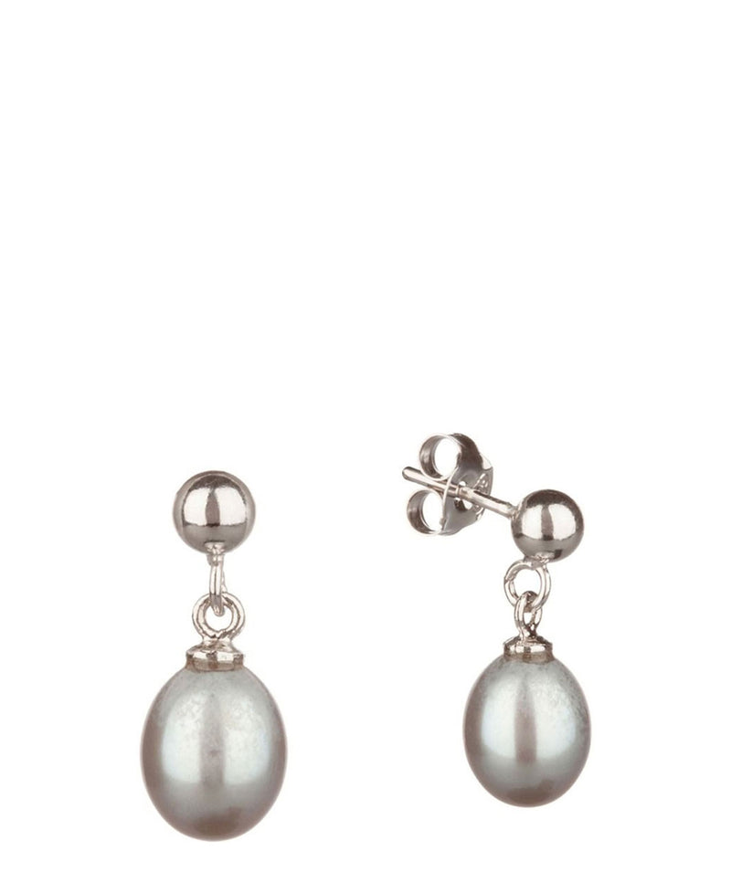 'Teri' 7-7.5mm Silver Pink Pearl Earrings