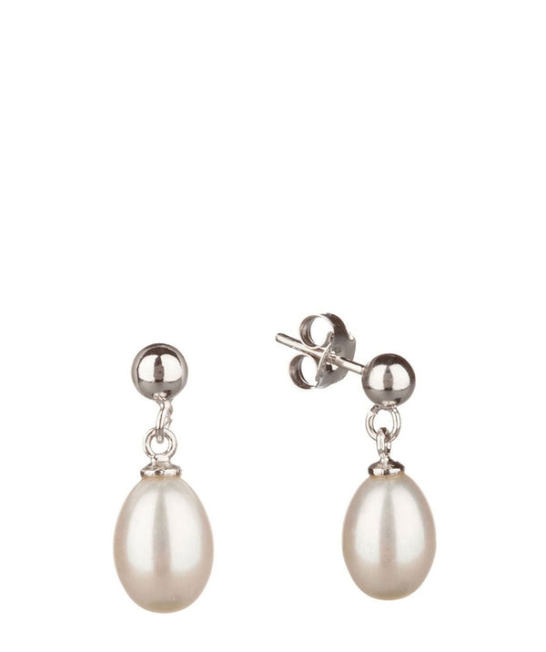 'Olivia' 7-7.5mm White Pearl Earrings image 1