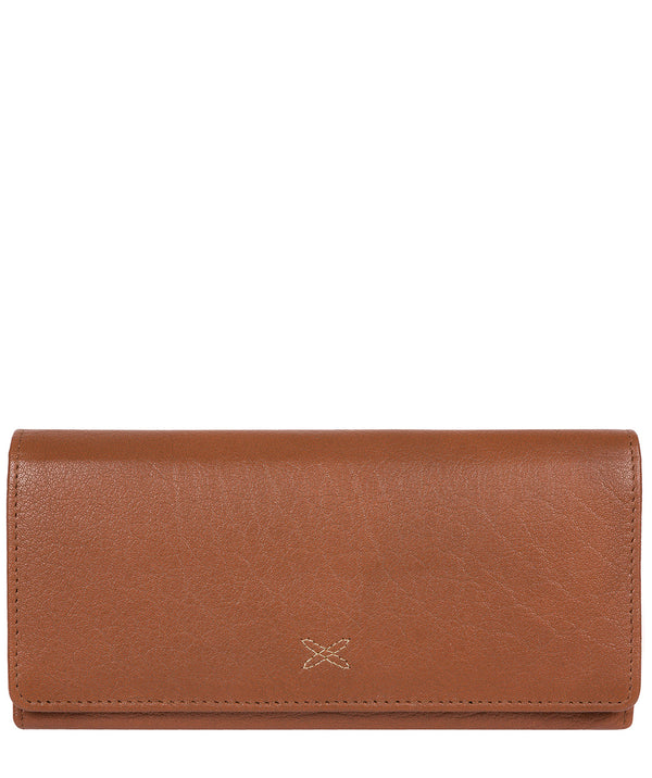 'Vivian' Dark Tan Leather Bi-Fold Purse image 1