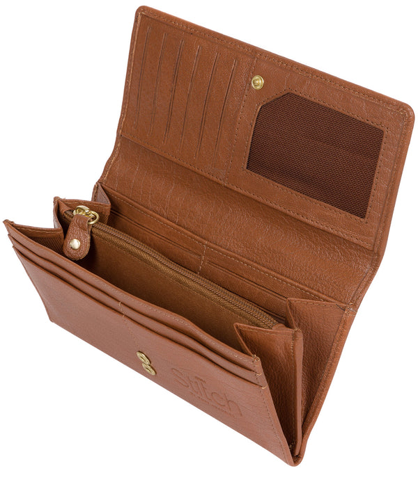 'Vivian' Dark Tan Leather Bi-Fold Purse image 3