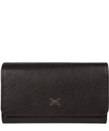 'Dina' Black Tri-Fold Leather Purse image 1