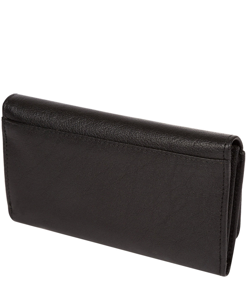 'Dina' Black Tri-Fold Leather Purse image 4