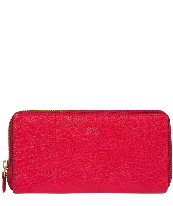 'Netty' Cherry Zip Leather RFID Purse image 1