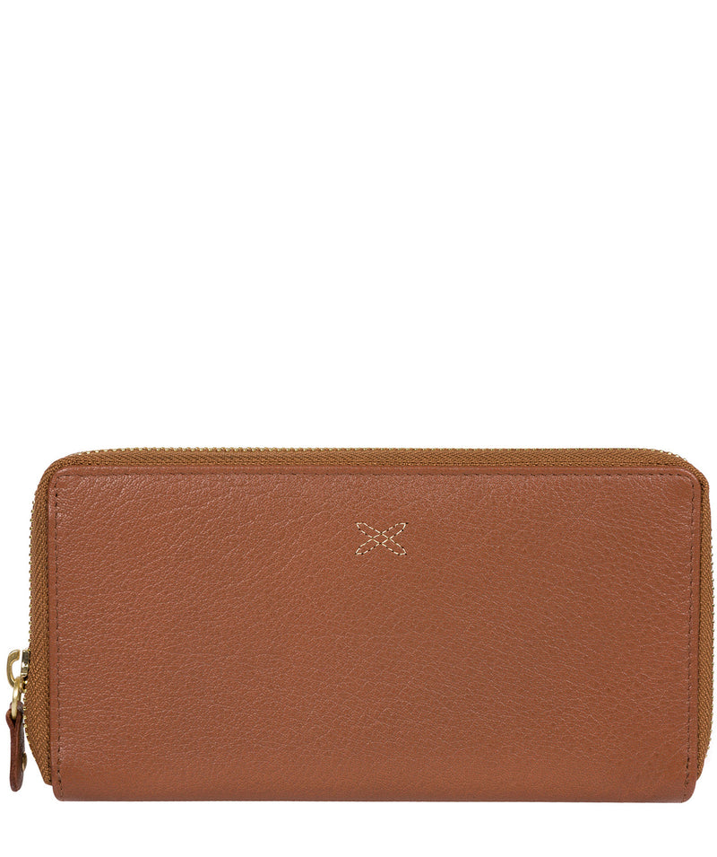 'Netty' Dark Tan Leather RFID Purse image 1