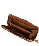 'Netty' Dark Tan Leather RFID Purse image 3