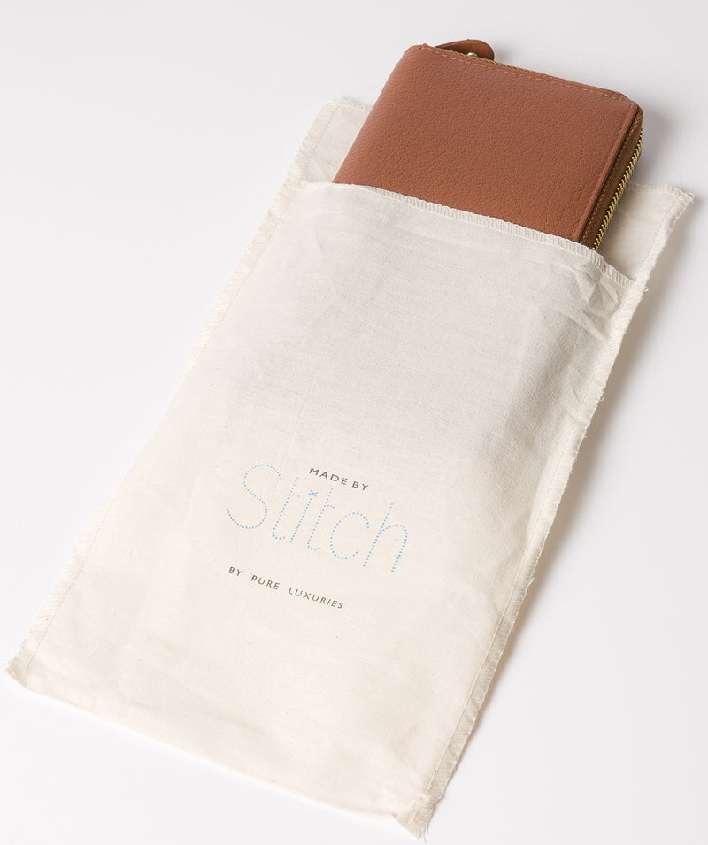 'Netty' Dark Tan Leather RFID Purse image 5