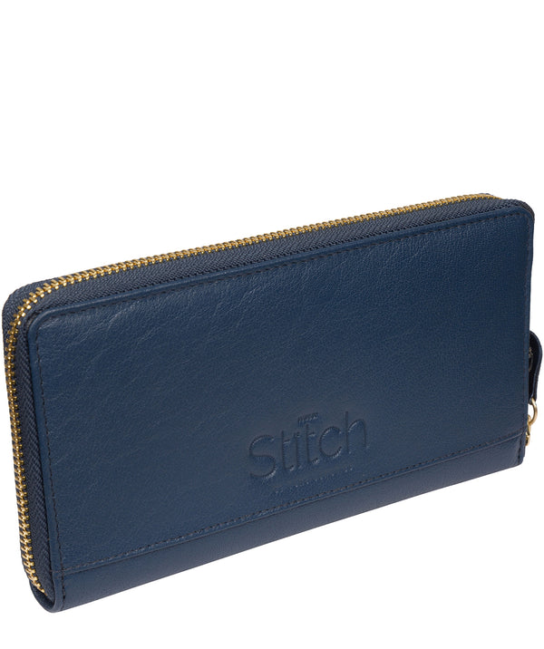 'Netty' Denim Leather RFID Purse image 3