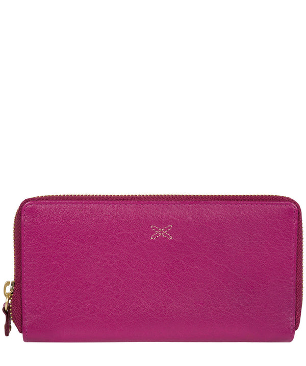 'Netty' Plum Leather RFID Purse Pure Luxuries London