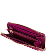 'Netty' Plum Leather RFID Purse image 3