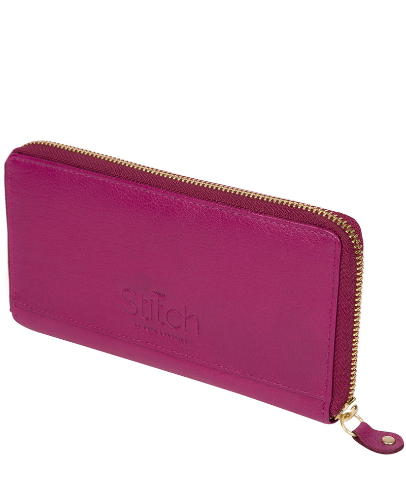 'Netty' Plum Leather RFID Purse image 4