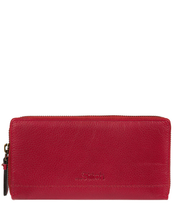 'Newby' Red Handmade Leather Purse