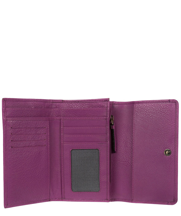 'Millbeck' Violet Handmade Leather RFID Purse
