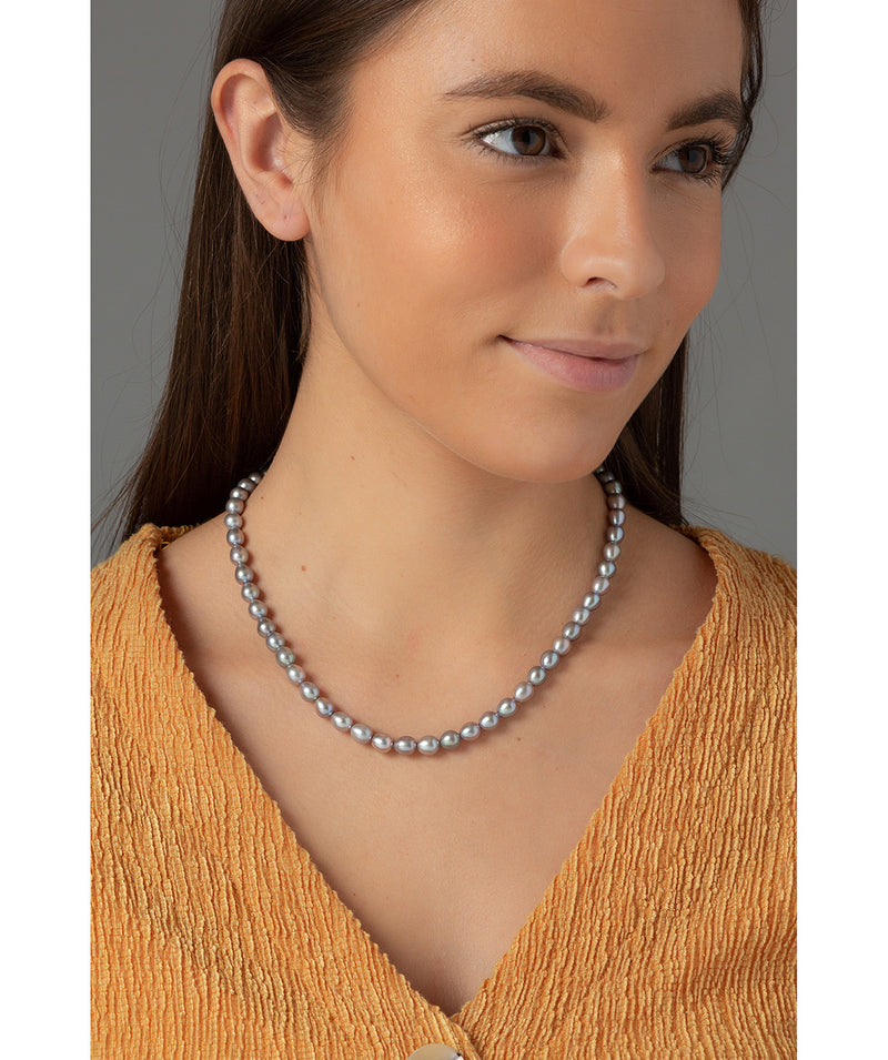 "'Terre' Grey Cultured Freshwater Pearl 18"" Necklace image 2"