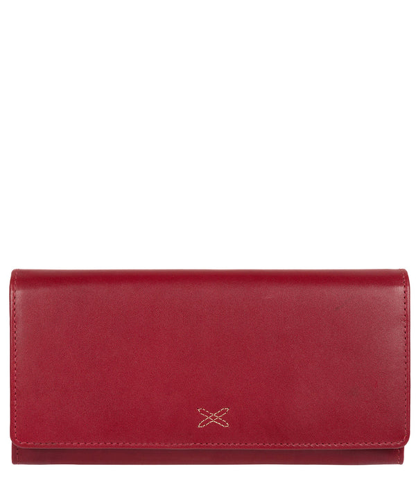 'Lana' Ruby Red Handcrafted Leather RFID Purse image 1