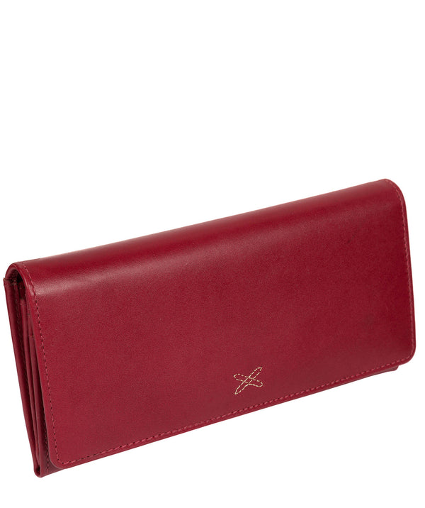 'Lana' Ruby Red Handcrafted Leather RFID Purse image 3