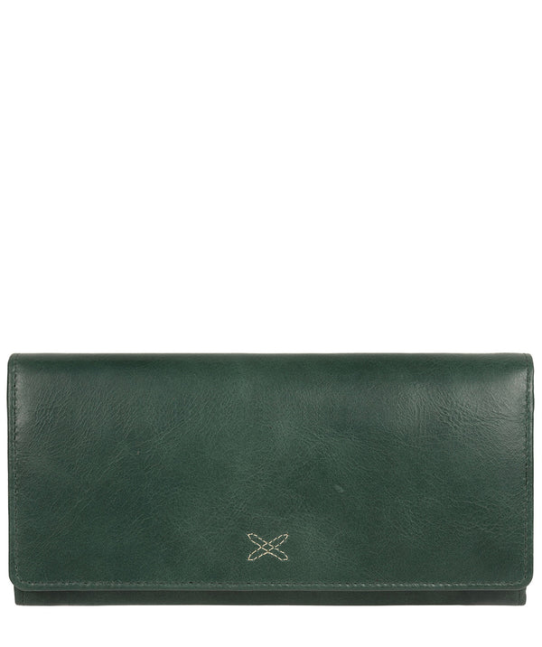 'Lana' Green Leather RFID Purse image 1