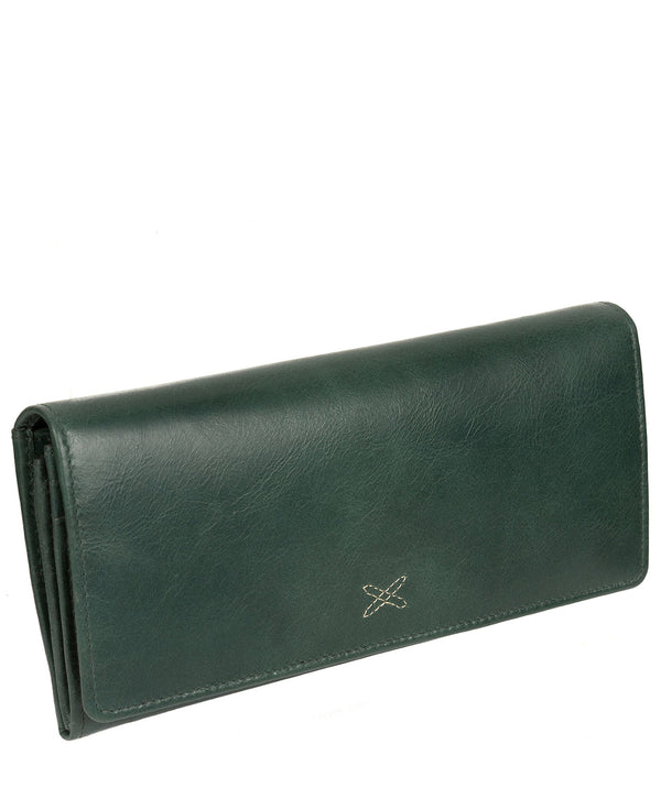 'Lana' Green Leather RFID Purse image 3