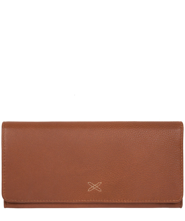 'Lana' Tan Handcrafted Leather RFID Purse image 1