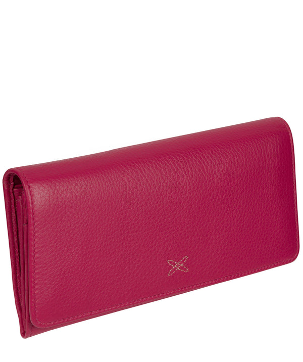 'Lana' Pink Handmade Leather RFID Purse image 3
