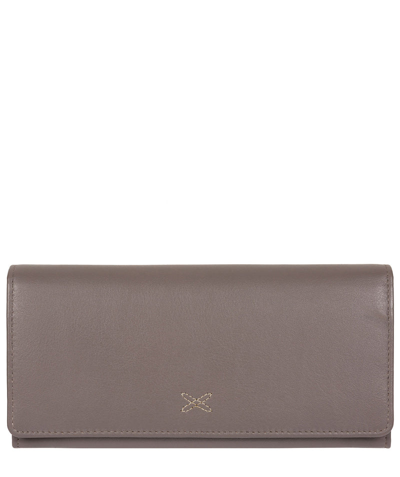 'Lana' Taupe Grey Leather RFID Purse image 1