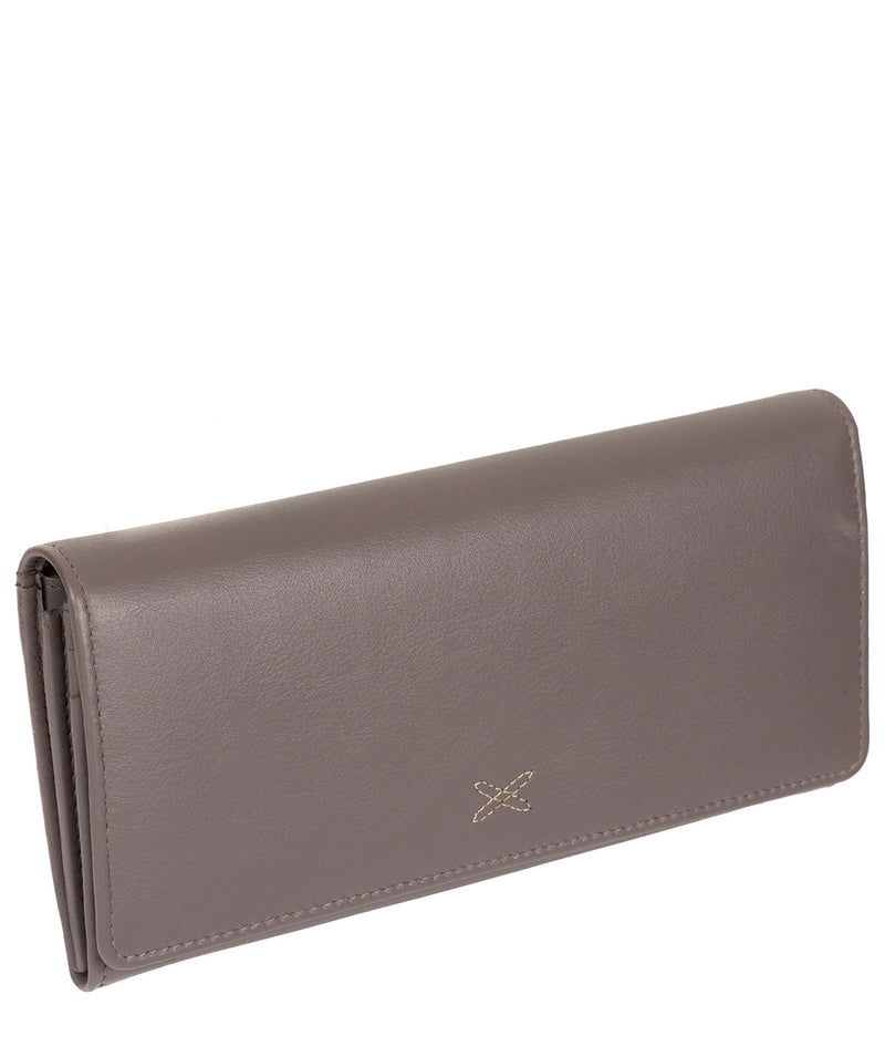 'Lana' Taupe Grey Leather RFID Purse image 3