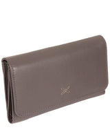 'Klara' Taupe Grey Leather RFID Purse