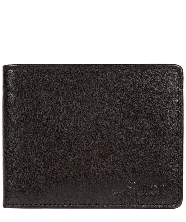 'Collins' Black Bi-Fold Leather Wallet image 1