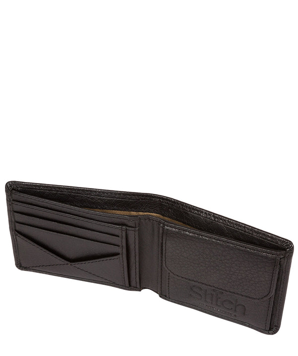 'Collins' Black Bi-Fold Leather Wallet image 3