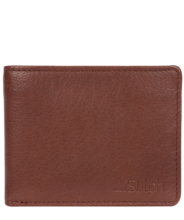 'Collins' Brown Bi-Fold Leather Wallet image 1