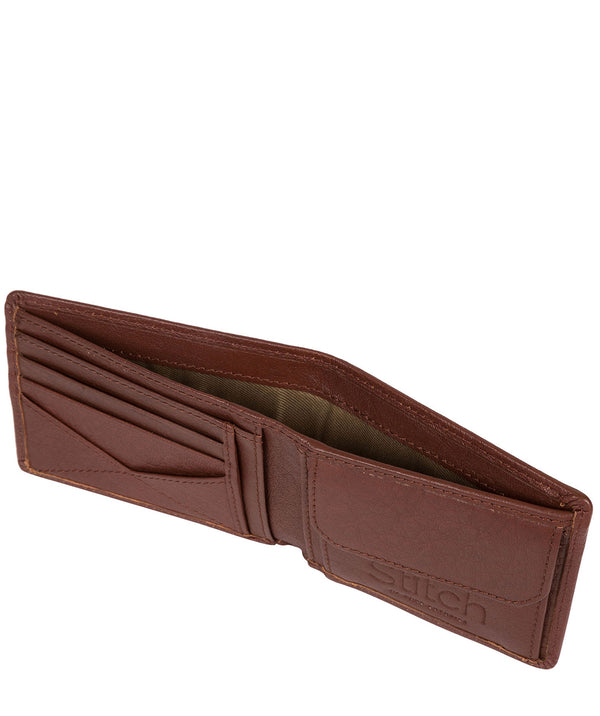 'Collins' Brown Bi-Fold Leather Wallet image 3