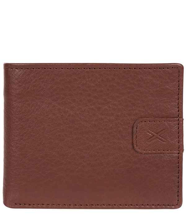 'Fisher' Brown Bi-Fold Leather Wallet image 1