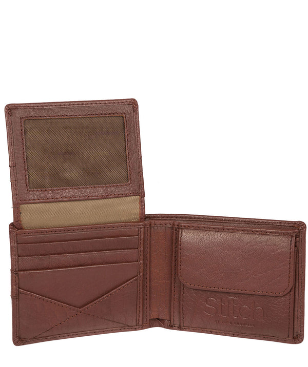 'Fisher' Brown Bi-Fold Leather Wallet image 3