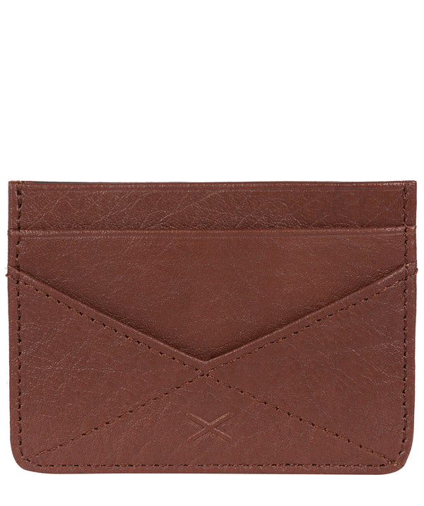 'Daltrey' Brown Leather Card Holder Pure Luxuries London