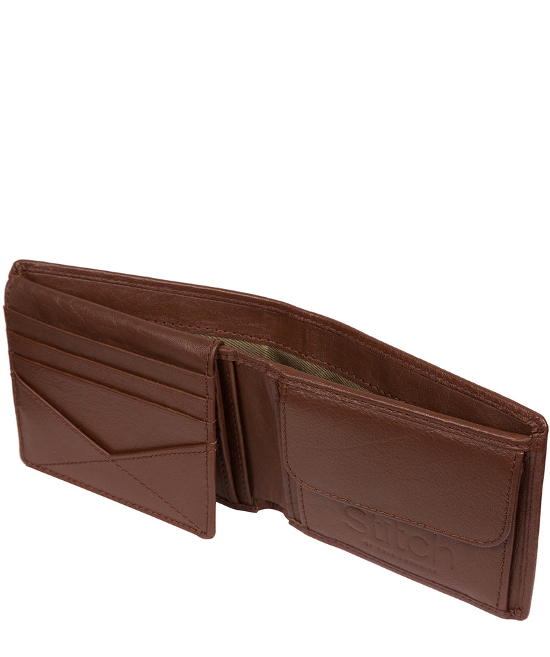 'Rossini' Brown Leather RFID Wallet image 3