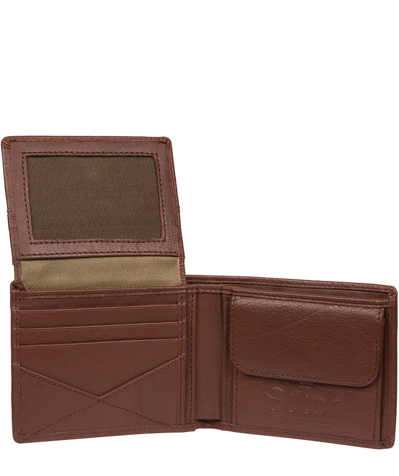 'Rossini' Brown Leather RFID Wallet image 4
