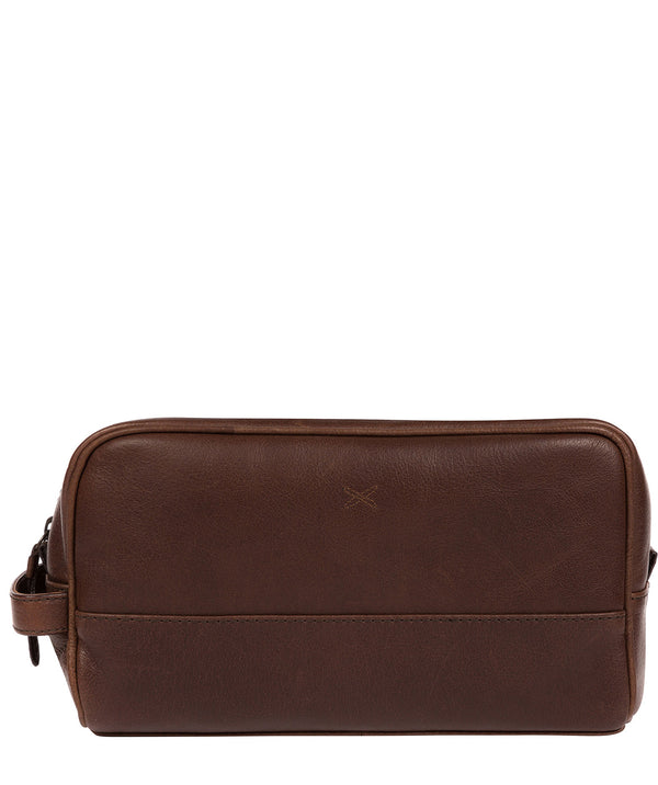 'Bowfell' Malt Leather Washbag image 1