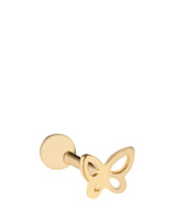 'Valeria' 9ct Yellow Gold Cartilage Butterfly Earring image 1