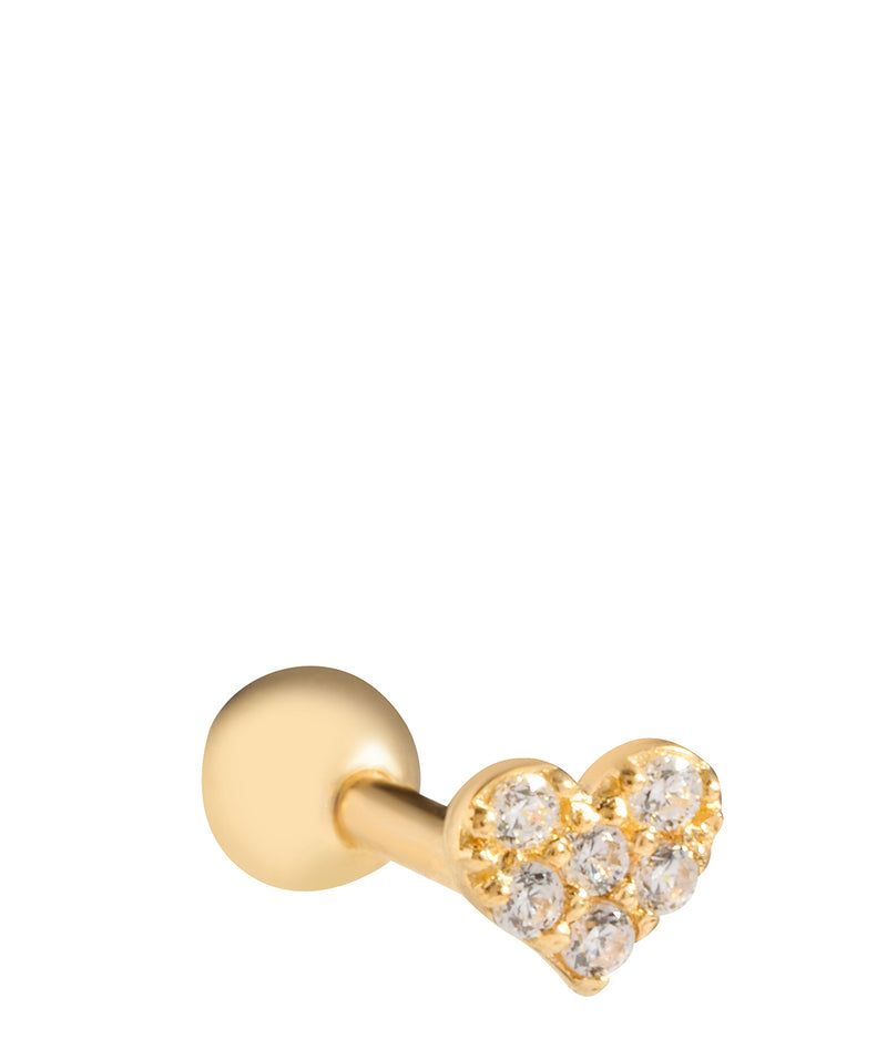 'Analise' 9ct Yellow Gold Cartilage Heart Earring image 1