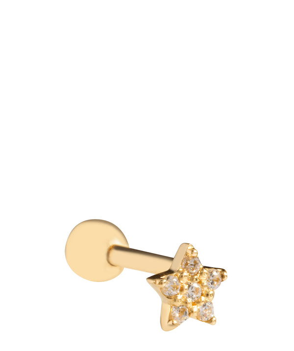 'Estella' 9ct Yellow Gold Star Cartilage Stud Earring image 1