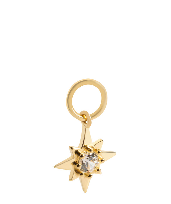 'Bellatrix' 9ct Yellow Gold and Cubic Zirconia Earring Charm image 1