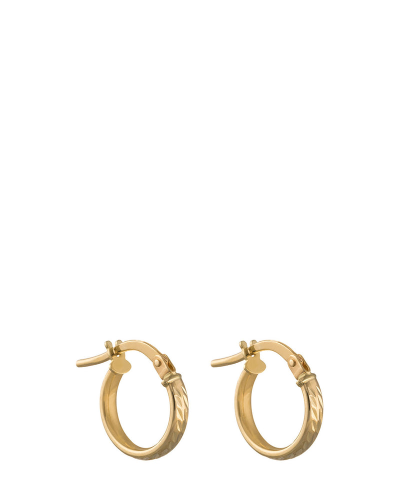 Gift Packaged 'Susanne' 9ct Yellow Gold Diamond Cut Earrings